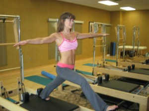 Grading Girl on The Reformer - this is my first try with this move!