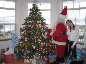 Mini Me and Santa a few Christmases ago!