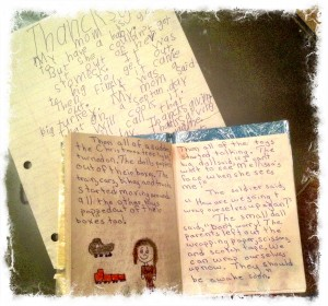 Two Early Pieces of My Writing - A Composition and A Book
