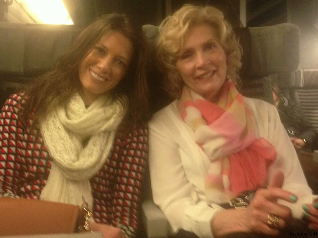 Mom and I on the Eurostar train