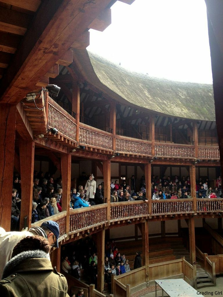 Sitting on the Upper Level of The Globe