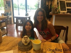 My niece and I at THROWN ELEMENTS, a paint-your-own pottery place in Arlington Heights, IL